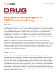 Study Startup: New Battleground in CRO Differentiation Strategy