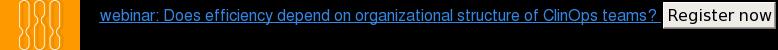 webinar: Does efficiency depend on organizational structure of ClinOps teams?  Register now