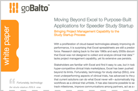 Whitepaper: Moving Beyond Excel to Purpose-Built Applications for Speedier Study Startup