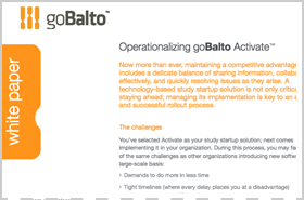 Whitepaper: Operationalizing goBalto Activate