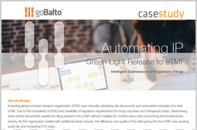 Case Study: Automating IP Green Light Release to eTMF