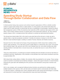 Speeding Study Startup Through Better Collaboration and Data Flow