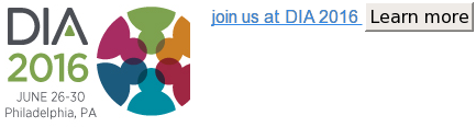 join us at DIA 2016 Learn more