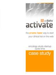 Oncology Study Startup Cycle Time Case Study
