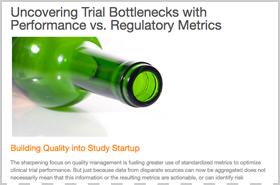Uncovering Trial Bottlenecks with Performance vs. Regulatory Metrics
