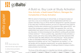 Whitepaper: A Build vs. Buy Look at Study Activation