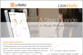 Case Study: A Step Change in Study Startup Efficiency