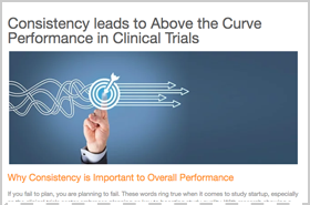 Consistency leads to Above the Curve Performance in Clinical Trials
