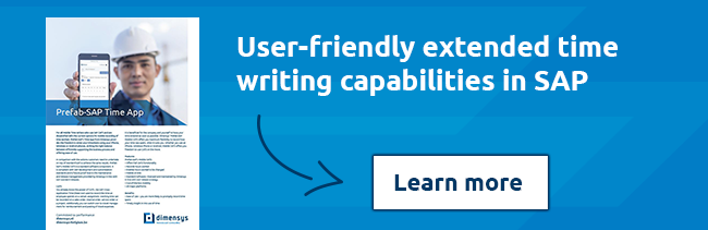 User-friendly extended time writing capabilities in SAP