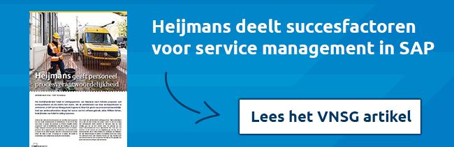 Lees VNSG artikel: Heijmans succesfactoren voor service management in SAP