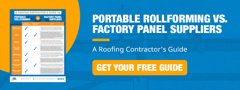"Get your free ""Portable Rollforming vs. Factory Panel Suppliers"" guide!"