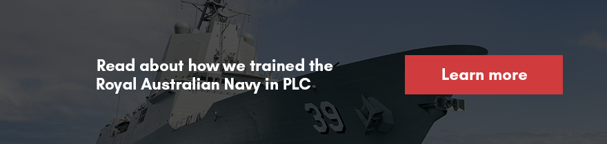 Read about how we trained the Royal Australian Navy in PLC