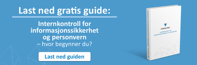 Last ned gratis guide: Internkontroll for informasjonssikkerhet og personvern