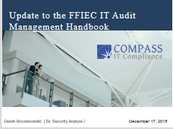 FFIEC IT Audit Management Booklet Update