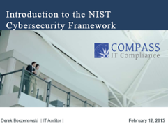NIST Cybersecurity Presentation