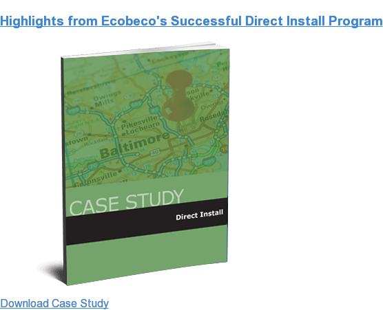 Highlights from Ecobeco's Successful Direct Install Program Download Case Study