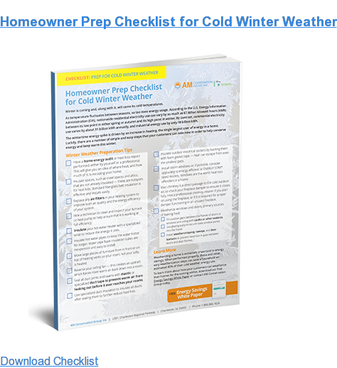 Homeowner Prep Checklist for Cold Winter Weather  Download Checklist