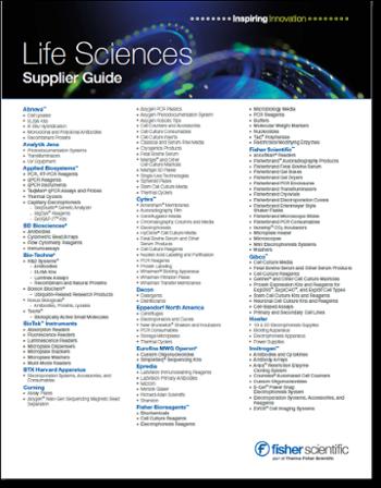 Fisher Scientific Life Sciences Supplier Guide