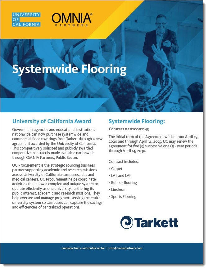Tarkett Systemwide Flooring Cooperative Contract