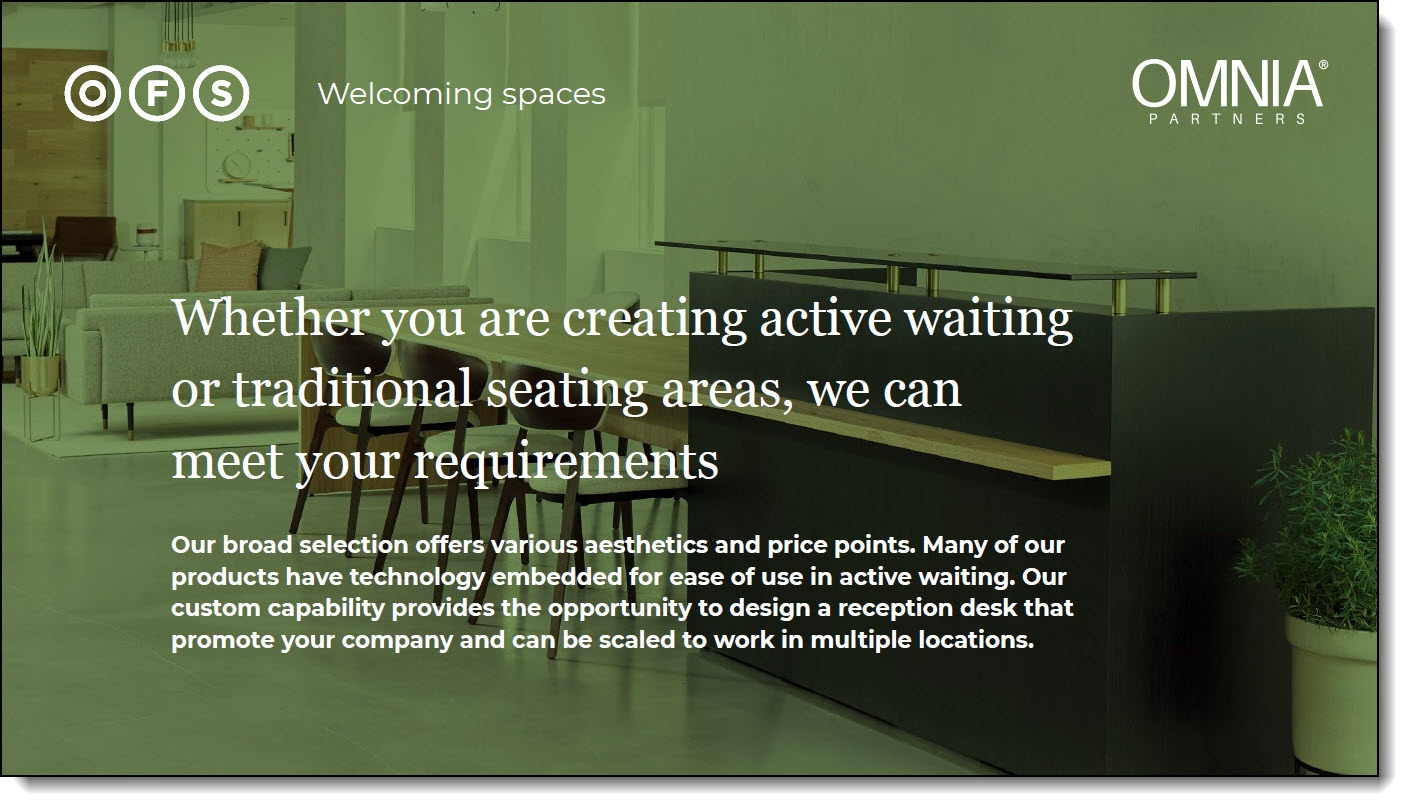 OFS & OMNIA Partners - Welcoming Spaces