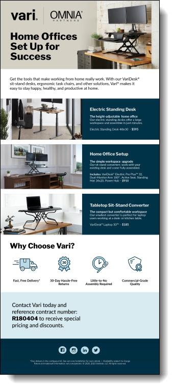 Vari Home Office Pricing Flyer