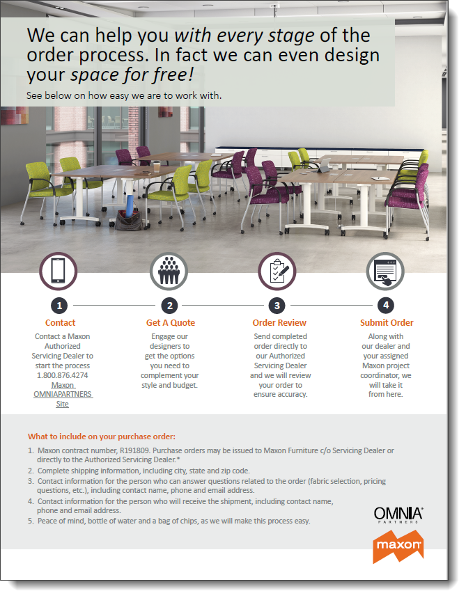Maxon & OMNIA Partners How To Flyer