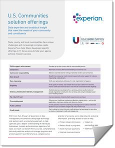 Experian Brochure of U.S Communities Solution Offerings