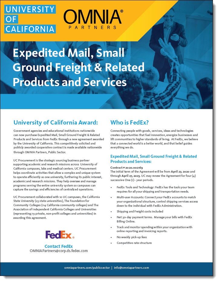 FedEx & OMNIA Partners Collateral