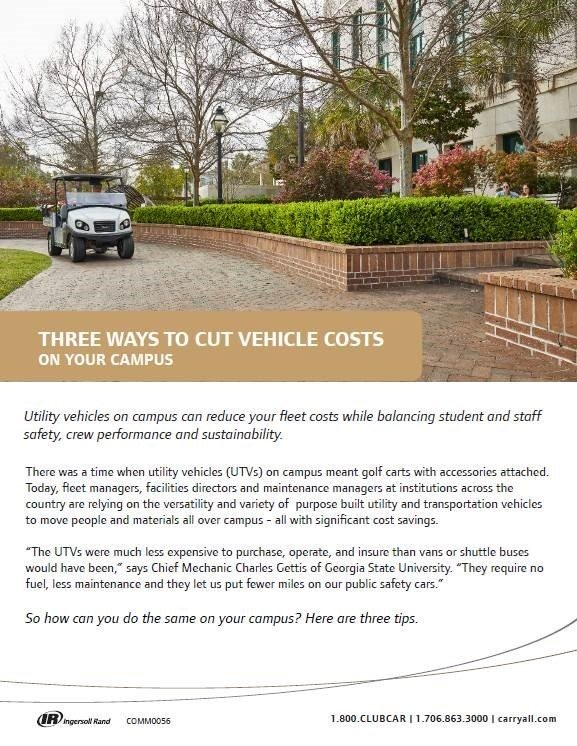 Club Car Cutting Vehicle Costs