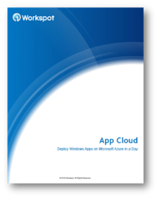 Workspot Cloud Apps for Modern App VIrtualization