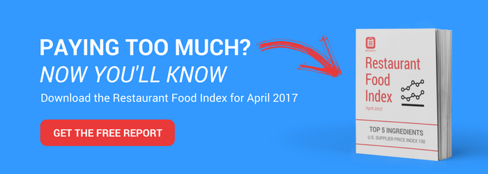 Are you paying too much? Now you'll know... download the Restaurant Food Index for April 2017.