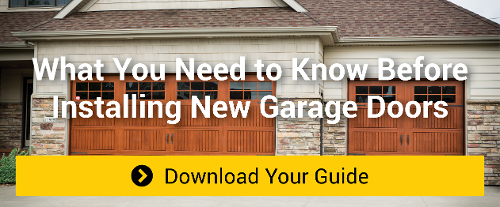 install new residential garage doors