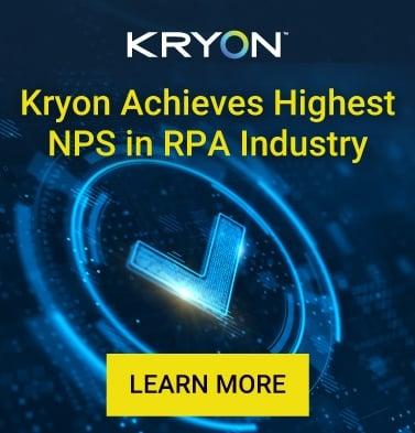 Kryon Achieves Highest NPS in RPA Industry