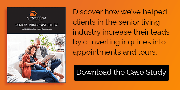 live chat senior living case study