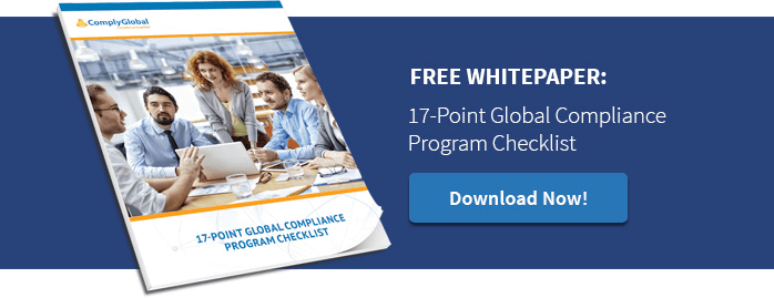Free Whitepaper: 17-Point Global Compliance Program Checklist