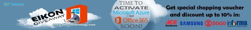 Eikon Giveaway - Promo Microsoft Office 365 dan Microsoft Azure