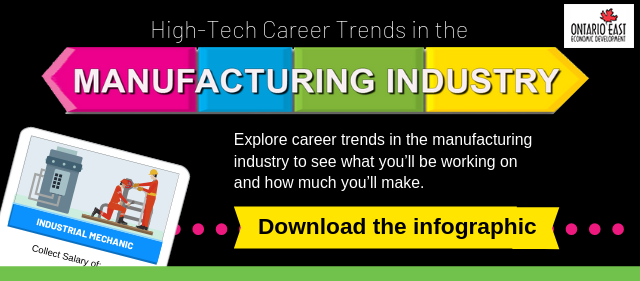 high tech career trends in manufacturing infographic