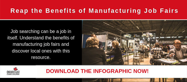 benefits of manufacturing job fair infographic