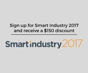 Sign up for Smart Industry 2017 and receive a $150 registration discount