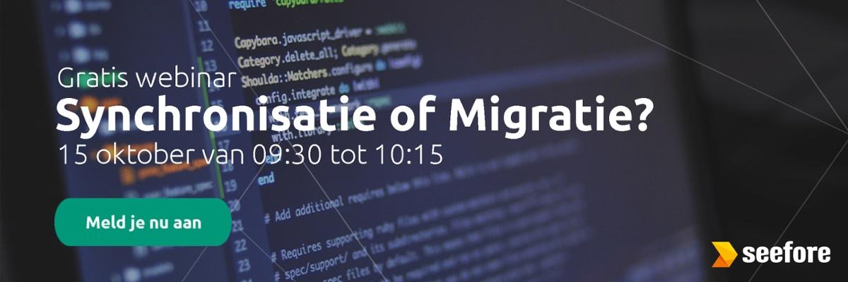 Webinar synchronisatie of migratie