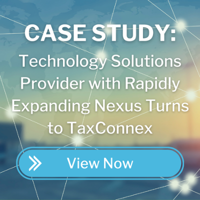 technology solutions provider with rapidly expanding nexus turns to taxconnex CTA button
