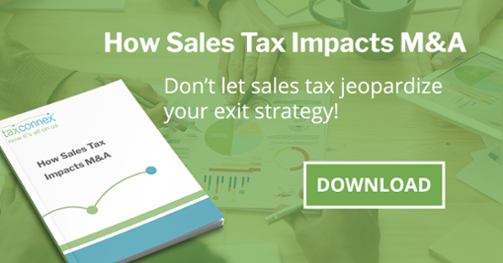Merger and acquistion sales tax eBook CTA