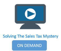 solving the sales tax mystery webinar