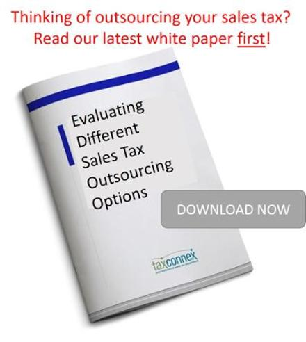 White paper evaluating different sales tax outsourcing options