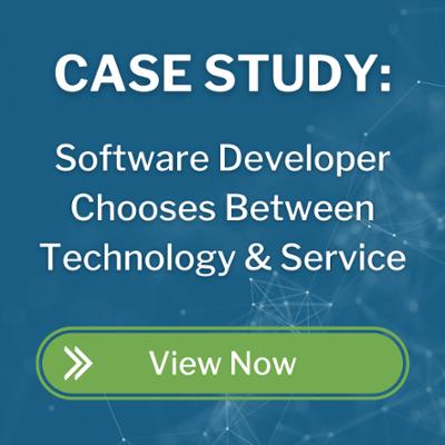 software developer chooses between technology and service_CTA button