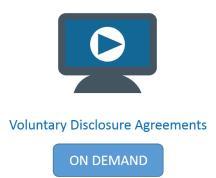 voluntary disclosure agreements webinar