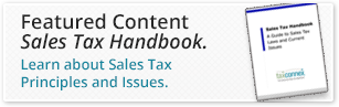 Learn about Sales Tax Principles and Issues