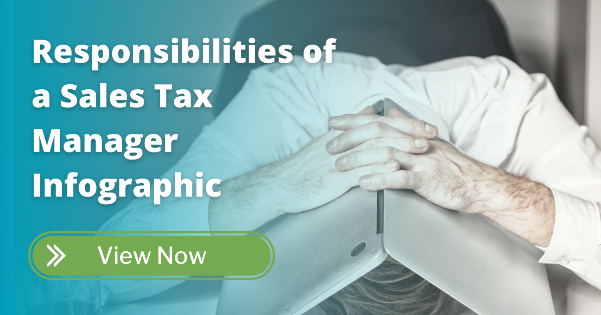 responsibilities of a sales tax manager infographic - cta