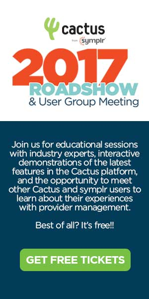 Cactus from symplr - 2017 Roadshow & User Group Meeting