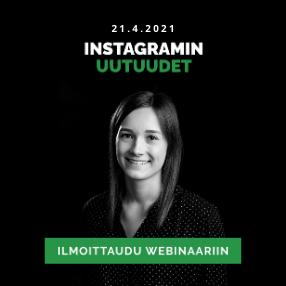 Instagramin uutuudet webinaari